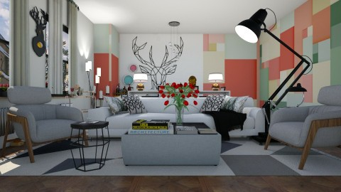 modern geometry - Living room - by Evgeniya Sinenko