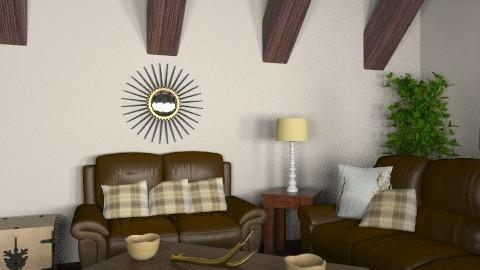 Rustic living room - Rustic - Living room - by jauxier2002