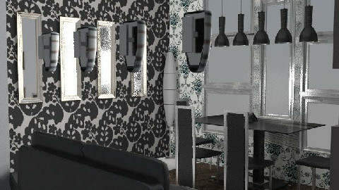 Black White & Grey - Dining Room - by Just_smile