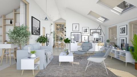 Scandinavian Living Room - by Ania Daliva