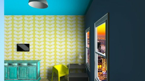blue and yellow 1 - Modern - Bedroom - by ohohmonica