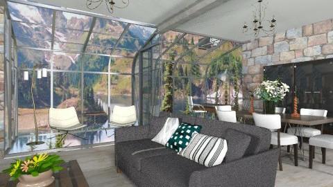 Modern Rustic - Rustic - Living room - by chloedaniella