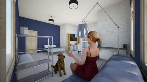 big bedroom - Bedroom - by Julia Czeko Zienkiewicz