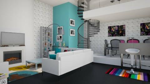 bw - Living room - by alexdj