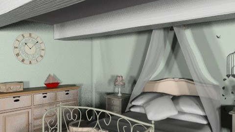 French inspiration 2 - Rustic - Bedroom - by Charlotte10