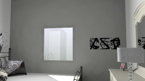 Black & White Bedroom - 7 Jul 2009 2:42:49 PM - Country - Bedroom - by hilmito