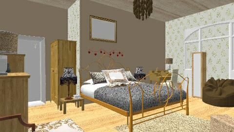 Bedroom of my dreams - Rustic - Bedroom - by coccinelledu28