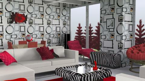 Red Nose Room - Retro - Living room - by ellis1711