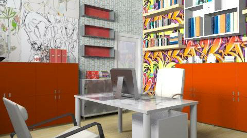 Artist's Office (Revisited) - Modern - Office - by jenshadow_222