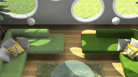Chilin' Green 3 - Retro - Living room - by juhaszrena