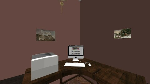 rustic office - Rustic - Office - by shadowscythe
