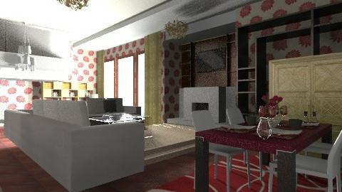 Living room Dining room  - Modern - Living room - by moonissa