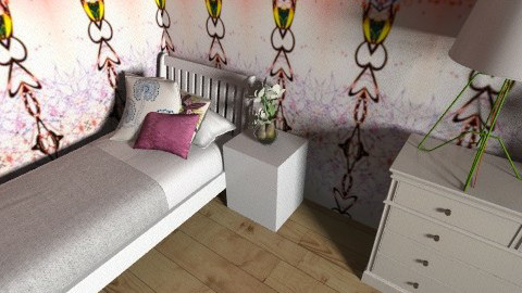 Small room - Feminine - Bedroom - by ThLauraW