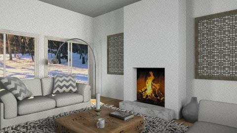 Salon rustic chic2b - Living room - by Yellow Moon Design