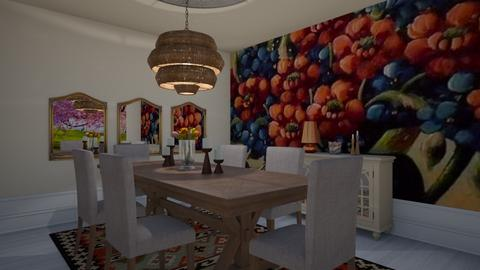 Comedor Plano 1 - Dining room - by Teresa Valdes Beso
