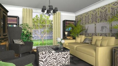 Zebra - Eclectic - Living room - by Theadora