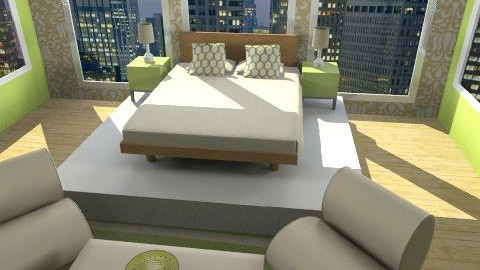 New York City Hotel - Glamour - Bedroom - by tatertot0514