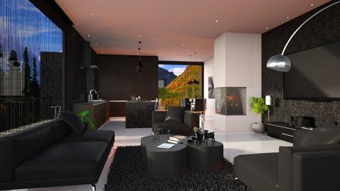 ROSE BLACK M - Global - Living room - by Rose Hdz