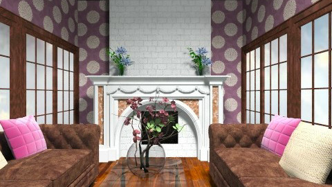 purple family room - Classic - Living room - by dancergirl1243