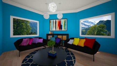 Rainbow Room - Living room - by Sophiedot