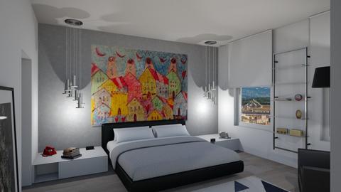 Penthouse master bedroom - by faruffa