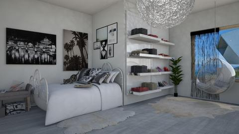50 shades of gray - Bedroom - by Noa Sardoz