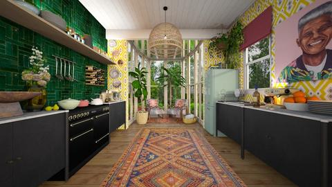 eclectic kitchen - by Marina Struwig