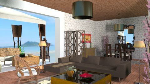 Depto de playa - Living room - by ana2000
