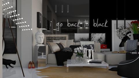 back to black  - by Mum Dali