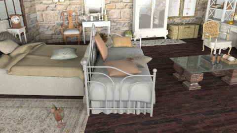 antique - Rustic - Bedroom - by ATELOIV87