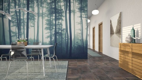 Sea of Trees - Eclectic - Dining room - by evahassing