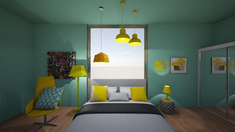 bedroom - Modern - Bedroom - by evalackovic11