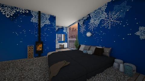 Winter Bedroom - Bedroom - by LittleBaby_Kodak