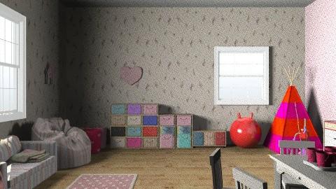 little girls play room - by rororo