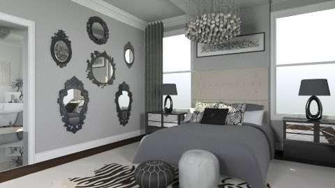 50 Nuances de Gris - Feminine - Bedroom - by ElysiaNirel
