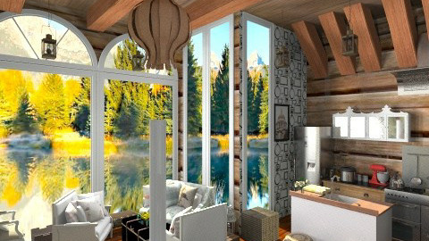 LOG Cabin 2 - Living room - by annasashan610
