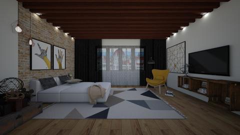 Loft - Bedroom - by bsk Interiordesign