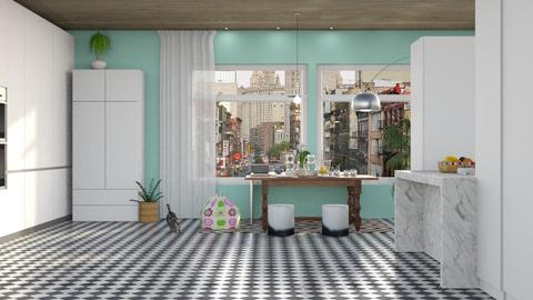 Checkered tiles - Classic - Living room - by elephant in savanna