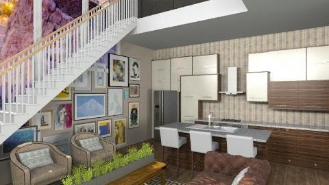 the warm room - Retro - Living room - by dezhero