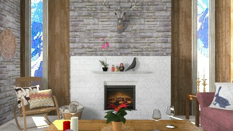 Swiss cabin - Eclectic - Living room - by ooooo