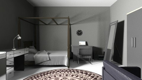 black and white room - Modern - Bedroom - by oliviajackson