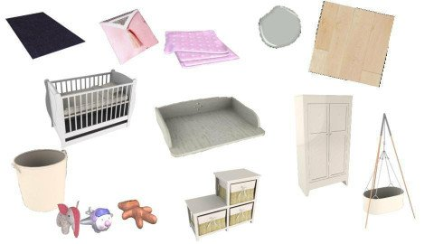 Baby girl bedroom - by Loes Hartgerink