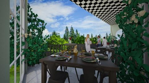 Cafe - Retro - Dining room - by Teagan123