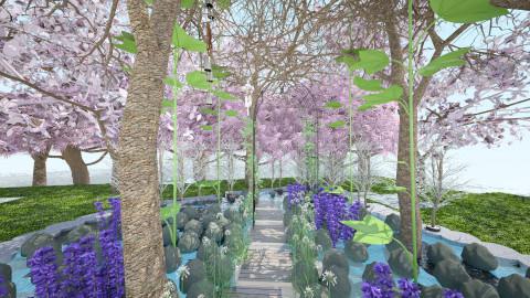 Rooftop garden the path - Garden - by Primeve