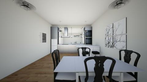 Black And White Kitchen - Kitchen - by Kittyphoenix
