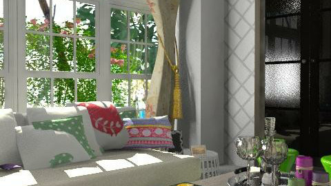 Spring living - Rustic - Living room - by newyorkstyle