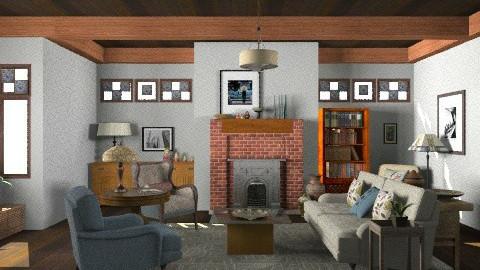 Craftsman Living Room - Vintage - Living room - by LizyD