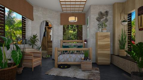 Urban Jungle - Bedroom - by Nicky West