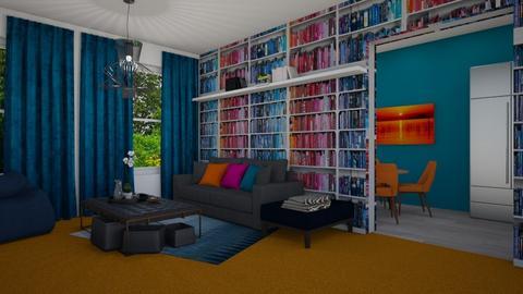 Orange Carpet Living Room - Living room - by gkathryn