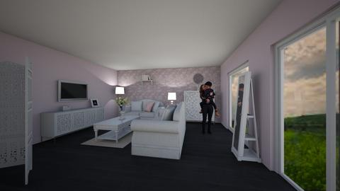 Pink - Country - Living room - by Elda